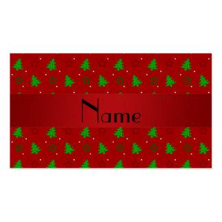 Modelo de estrellas rojo conocido personalizado de plantilla de tarjeta de negocio