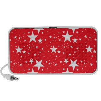 Modelo de estrellas rojo y blanco notebook altavoz