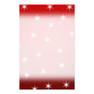 Modelo de estrellas rojo y blanco tarjetas publicitarias