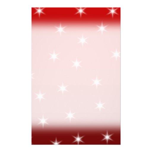 """Modelo de estrellas rojo y blanco folleto 5.5"""" x 8.5"""""""