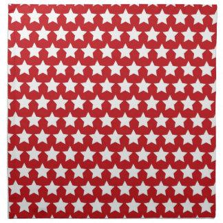Modelo de estrellas rojo y blanco patriótico el 4  servilleta