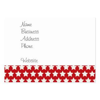 Modelo de estrellas rojo y blanco patriótico el 4 tarjeta de visita