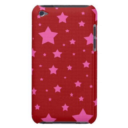 Modelo de estrellas rojo y rosado Case-Mate iPod touch fundas