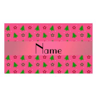 Modelo de estrellas rosado conocido personalizado plantilla de tarjeta personal