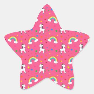 Modelo de estrellas rosado de los corazones del un