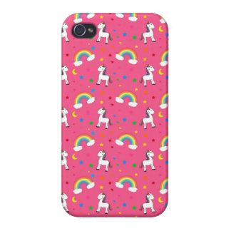 Modelo de estrellas rosado de los corazones del un iPhone 4 protectores