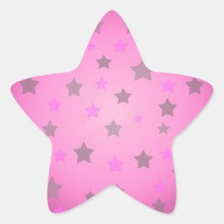 Modelo de estrellas rosado y gris calcomanías forma de estrellas