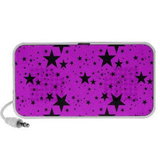 Modelo de estrellas rosado y negro mini altavoces