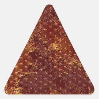 Modelo de estrellas rústico del oro pegatinas