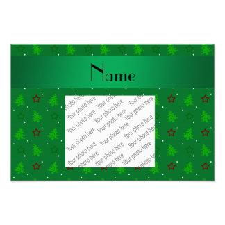 Modelo de estrellas verde conocido personalizado d foto