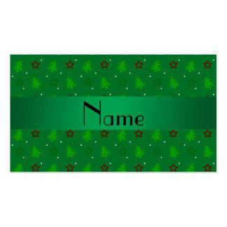 Modelo de estrellas verde conocido personalizado d plantillas de tarjeta de negocio