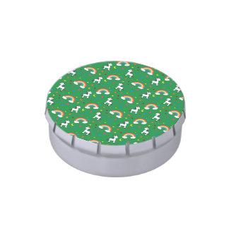 Modelo de estrellas verde de los corazones del jarrones de caramelos