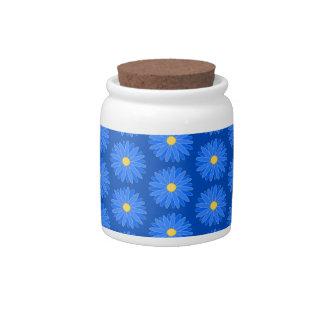 Modelo de flor azul platos para caramelos