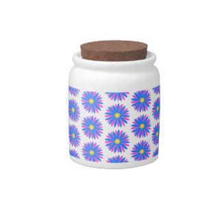 Modelo de flor jarras para caramelos