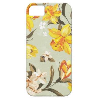 Modelo de flores amarillo iPhone 5 Case-Mate protector