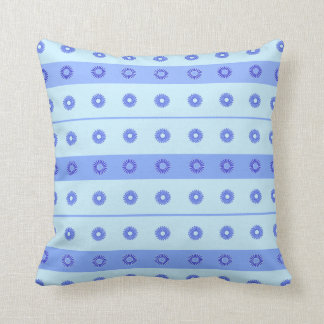 Modelo de flores azul marino azul claro almohada