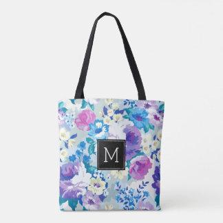 Modelo de flores colorido del verano de las bolsa de tela