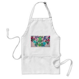 Modelo de flores colorido delantal