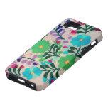 Modelo de flores colorido funda para iPhone 5 tough