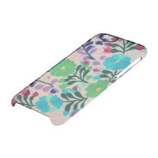 Modelo de flores colorido funda clear para iPhone 6/6S