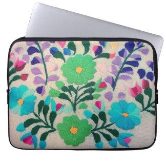 Modelo de flores colorido mangas portátiles