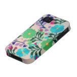 Modelo de flores colorido vibe iPhone 4 carcasas