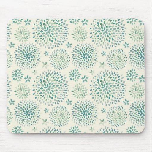 Modelo de flores de la acuarela mouse pads