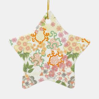 Modelo de flores de la cabaña del verano adorno de cerámica en forma de estrella