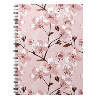 Modelo de flores de la flor de cerezo notebook