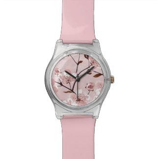 Modelo de flores de la flor de cerezo relojes