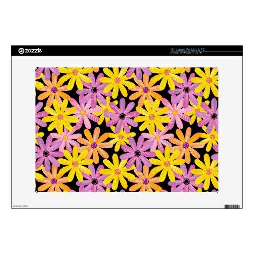 Modelo de flores del Gerbera, fondo Skins Para Portátil