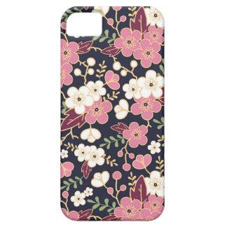 Modelo de flores del jardín de la noche funda para iPhone 5 barely there