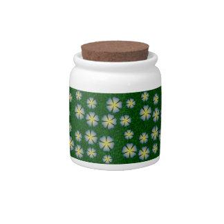 Modelo de flores del jardín jarra para caramelo