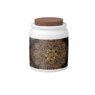 Modelo de flores del ornamento de la fantasía plato para caramelo