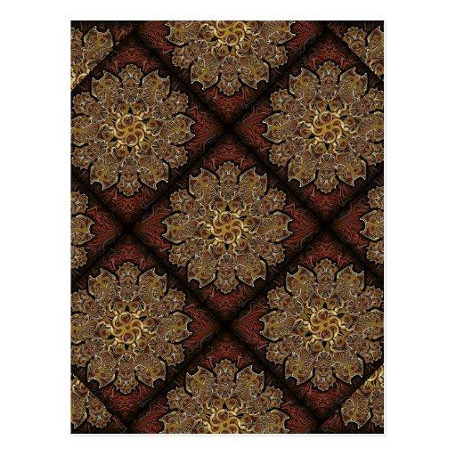 Modelo de flores del ornamento de la fantasía tarjeta postal