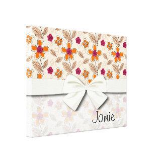 modelo de flores enrrollado del doodle impresion de lienzo