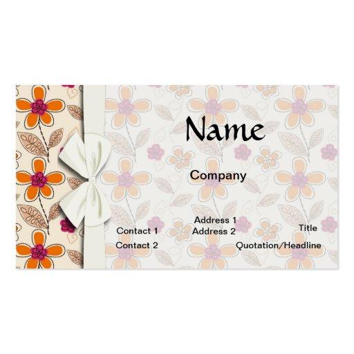 modelo de flores enrrollado del doodle tarjetas de visita