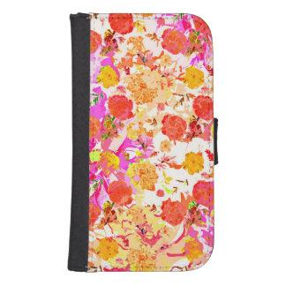 Modelo de flores lindo del girley fundas billetera para teléfono