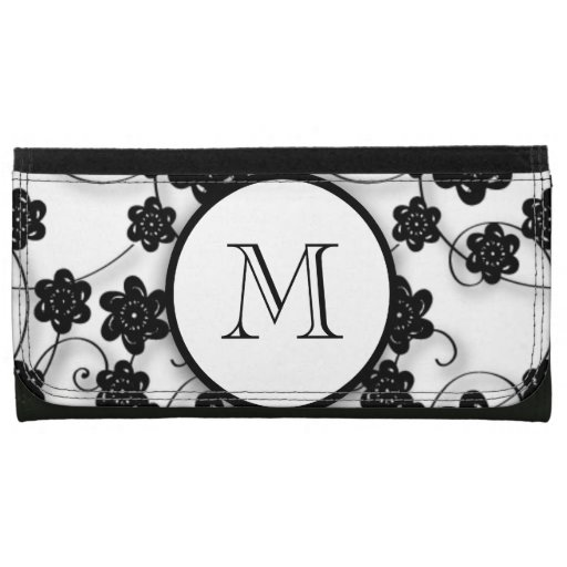 Modelo de flores negro lindo de la MOD, su inicial
