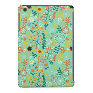 Modelo de flores retro estilizado colorido lindo funda para iPad mini retina
