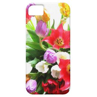 Modelo de flores romántico del tulipán de la iPhone 5 Case-Mate funda