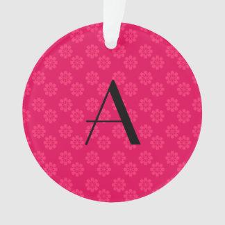 Modelo de flores rosado del monograma