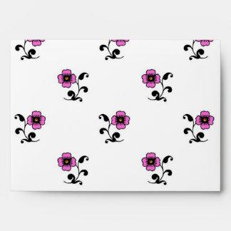 Modelo de flores rosado dulce