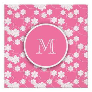 Modelo de flores rosado lindo de la MOD, su inicia Perfect Poster