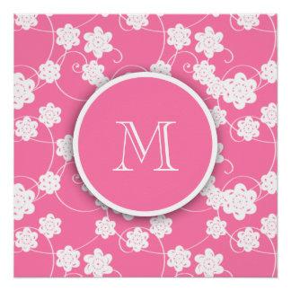 Modelo de flores rosado lindo de la MOD, su Perfect Poster