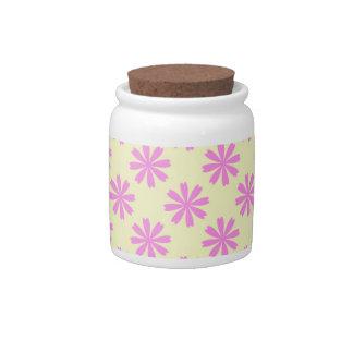 Modelo de flores rosado platos para caramelos