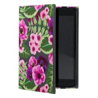 Modelo de flores rosado violeta de X iPad Mini Carcasas