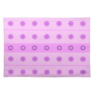 Modelo de flores rosado y púrpura manteles