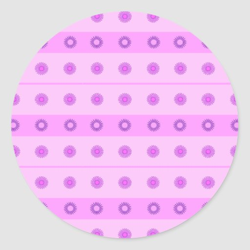 Modelo de flores rosado y púrpura pegatinas redondas