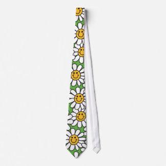 Modelo de flores sonriente de la margarita corbata personalizada